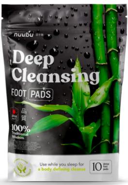 nuubu cerotti deep cleansing foot pads
